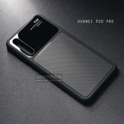 เคส Huawei P20 Pro เคสขอบนิ่ม ฝาหลังแข็ง ผิวหยาบกันลื่น