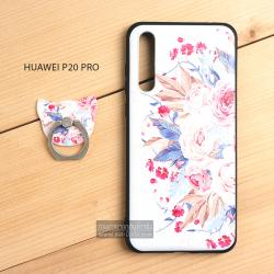 เคส Huawei P20 Pro เคสนิ่ม TPU พิมพ์ลายนูน (ขอบดำ) + พร้อมแหวนมือถือ แบบที่ 2