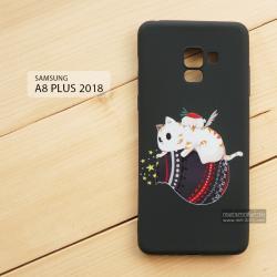 เคส Samsung Galaxy A8+ (PLUS) 2018 เคสนิ่ม TPU พิมพ์ลาย (ขอบดำ) แบบที่ 2