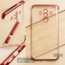 เคส Huawei Mate 10 Pro เคสนิ่ม SLIM TPU สีใส ขอบเงา ( สีแดง )
