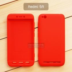 เคส Xiaomi Redmi 5A เคสแข็ง 3 ส่วน ครอบคลุม 360 องศา (สีแดง - แดง)