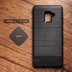 เคส Samsung Galaxy A8+ PLUS (2018) เคสนิ่ม เกรดพรีเมี่ยม ( ลายโลหะขัด - เคฟล่า ) พร้อมแม่เหล็กยึดบนรถยนต์