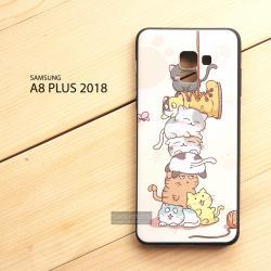 เคส Samsung Galaxy A8+ (PLUS) 2018 เคสนิ่ม TPU พิมพ์ลาย (ขอบดำ) แบบที่ 10