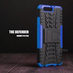 เคส Huawei P10 Plus กรอบบั๊มเปอร์ กันกระแทก Defender (เป็นขาตั้งได้) สีน้ำเงิน