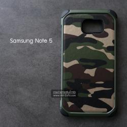 เคส Samsung Galaxy Note 5 กรอบบั๊มเปอร์กันกระแทก Defender ลายทหาร (Camouflage Series) สีเขียว