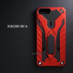เคส Xiaomi Mi 6 เคสบั๊มเปอร์ กันกระแทก Defender 2 ชั้น (พร้อมขาตั้ง) สีแดง (แบบที่ 2)