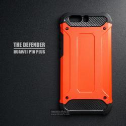 เคส Huawei P10 Plus เคสบั๊มเปอร์ (เสริมขอบกันกระแทก) สีส้มอมแดง Hybrid Protection