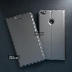 เคส Xiaomi Mi Max 2 เคสฝาพับเกรดพรีเมี่ยม เย็บขอบ พับเป็นขาตั้งได้ สีเทา (DUX DUCIS)