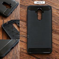 เคส Huawei Mate 9 เคสนิ่มเกรดพรีเมี่ยม (Texture ลายโลหะขัด) กันลื่น ลดรอยนิ้วมือ สีดำ