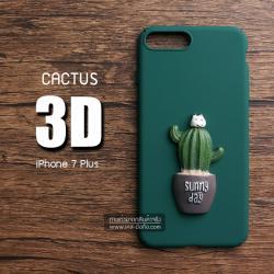 เคสสำหรับ iPhone 7 Plus เคสแข็ง 3D นูนสูง รูปต้นกระบองเพชร แบบที่ 1