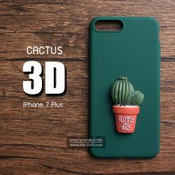 เคสสำหรับ iPhone 7 Plus เคสแข็ง 3D นูนสูง รูปต้นกระบองเพชร แบบที่ 2