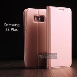เคส Samsung Galaxy S8 Plus เคสฝาพับเกรดพรีเมี่ยม (เย็บขอบ) พับเป็นขาตั้งได้ สีโรสโกลด์ (DUX DUCIS)