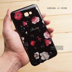 เคส Samsung Galaxy J7 Prime เคสแข็งพิมพ์ลาย ผิวมัน (ขอบเพชร) แบบที่ 2 Pretty