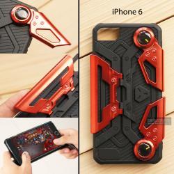 เคส iPhone 6 เคสนิ่ม Hybrid (GAMER CASE) พร้อมขาตั้ง + ที่จับสำหรับเล่นเกม (สีแดง)