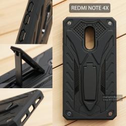 เคส Xiaomi Redmi Note 4X เคสบั๊มเปอร์ กันกระแทก Defender 2 ชั้น (พร้อมขาตั้ง) สีดำ (แบบที่ 2)