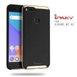 เคส Xiaomi Mi A1 เคส Hybrid iPaky เคสนิ่มกันกระแทกเสริมขอบ PC สีดำทอง