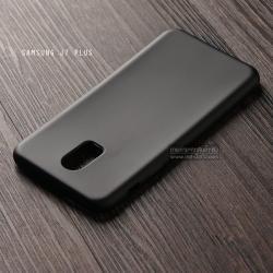 เคส Samsung Galaxy J7 Plus เคสนิ่ม TPU สีเรียบ สีดำ