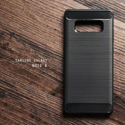 เคส Samsung Galaxy Note 8 เคสนิ่มเกรดพรีเมี่ยม (Texture ลายโลหะขัด) กันลื่น ลดรอยนิ้วมือ สีดำ