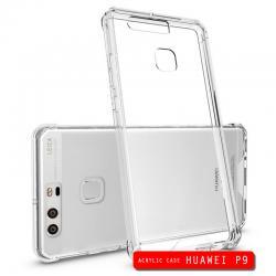 เคส Huawei P9 เคส Hybrid ฝาหลังอะคริลิคใส ขอบยางกันกระแทก สีใส