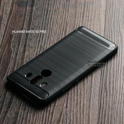เคส Huawei Mate 10 Pro เคสนิ่มเกรดพรีเมี่ยม (Texture ลายโลหะขัด) กันลื่น ลดรอยนิ้วมือ สีดำ