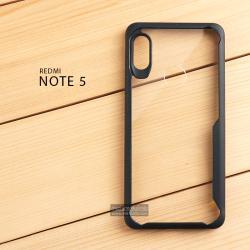 เคส Xiaomi Redmi Note 5 เคสฝาหลังอะคริลิคใส ขอบยางกันกระแทก แบบที่ 2 (ขอบนูนรอบกล้อง) สีดำ