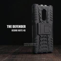เคส Xiaomi Redmi Note 4X เคสบั๊มเปอร์ กันกระแทก Defender (พร้อมขาตั้ง) สีดำ