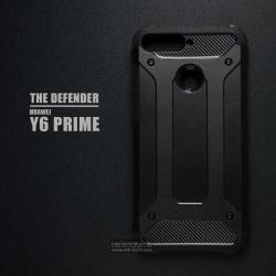 เคส Huawei Y6 Prime เคสบั๊มเปอร์ (เสริมขอบกันกระแทก) สีดำ Hybrid Protection