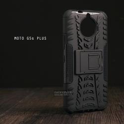 เคส Moto G5s Plus เคสบั๊มเปอร์ กันกระแทก Defender (พร้อมขาตั้ง) สีดำ