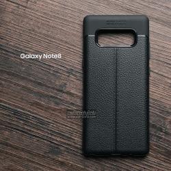เคส Samsung Galaxy Note 8 เคสนิ่ม Hybrid เกรดพรีเมี่ยม ลายหนัง (ขอบนูนกันกล้อง) แบบที่ 2 (มีเส้นตรงกลาง)