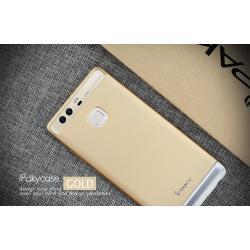 เคส Huawei P9 เคส iPaky เคสแข็งความยืดหยุ่นสูง Hybrid-Case (แบบ 2 ส่วนสวมท้าย) สีทอง