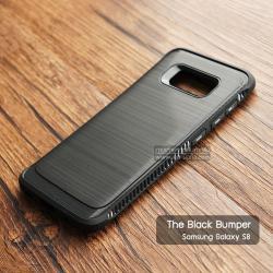 เคส Samsung Galaxy S8 เคส Hybrid + ขอบกันกระแทก ลดรอยนิ้วมือบนเคส สีดำ (BLACK BUMPER)