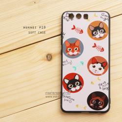 เคส Huawei P10 เคสนิ่ม TPU พิมพ์ลาย (ขอบดำ) ลายที่ 4