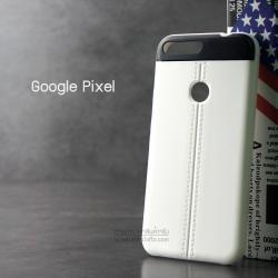 เคส Google Pixel เคสนิ่ม TPU ลายหนัง สีขาว
