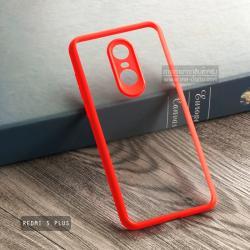 เคส Redmi 5 Plus เคส Hybrid ฝาหลังอะคริลิคใส ขอบยางกันกระแทก แบบที่ 2 (ขอบนูนรอบกล้อง) สีส้มเข้ม