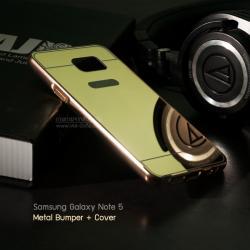 เคส Samsung Galaxy Note5 l เคสฝาหลัง + Bumper (แบบเงา) ขอบกันกระแทก สีทอง