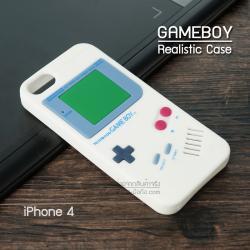 เคส iPhone 4 / 4S เคส Silicone TPU 3D สามมิติ (Realistic) ลาย Gameboy สีขาว