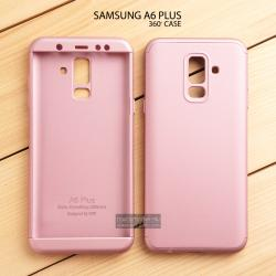เคส Samsung Galaxy A6 Plus เคสแข็ง 3 ส่วน ครอบคลุม 360 องศา (สีโรสโกลด์ - โรสโกลด์)