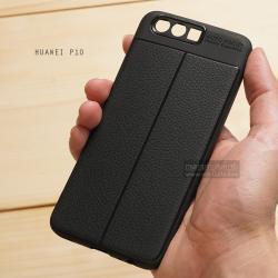 เคส Huawei P10 เคสนิ่ม Hybrid เกรดพรีเมี่ยม ลายหนัง (ขอบนูนกันกล้อง) แบบที่ 2 (มีเส้นตรงกลาง)