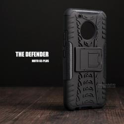เคส Moto G5 Plus เคสบั๊มเปอร์ กันกระแทก Defender (พร้อมขาตั้ง) สีดำ