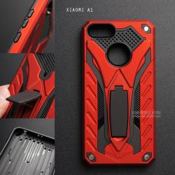 เคส Xiaomi MI A1 เคสบั๊มเปอร์ กันกระแทก Defender 2 ชั้น (พร้อมขาตั้ง) สีแดง (แบบที่ 2)