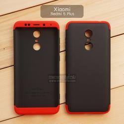 เคส Xiaomi Redmi 5 Plus เคสแข็ง 3 ส่วน ครอบคลุม 360 องศา (สีดำ - แดง)