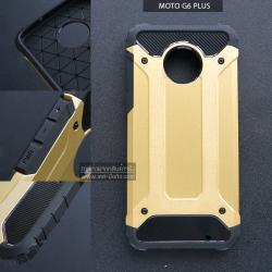 เคส MOTO G6 Plus เคสบั๊มเปอร์ (เสริมขอบกันกระแทก) สีทอง Hybrid Protection