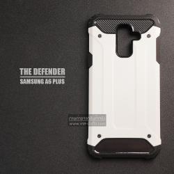 เคส Samsung Galaxy A6 Plus เคสบั๊มเปอร์ (เสริมขอบกันกระแทก) สีขาว Hybrid Protection