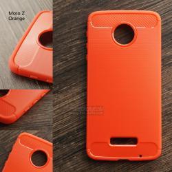 เคส Motorola Moto Z เคสนิ่มเกรดพรีเมี่ยม (Texture ลายโลหะขัด) กันลื่น ลดรอยนิ้วมือ สีส้ม