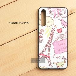เคส Huawei P20 Pro เคสนิ่ม TPU พิมพ์ลาย (ขอบดำ) แบบที่ 9 Love in Paris