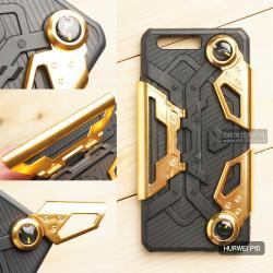 เคส Huawei P10 เคสนิ่ม Hybrid (GAMER CASE) พร้อมขาตั้ง + ที่จับสำหรับเล่นเกม (สีทอง)