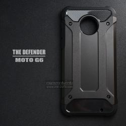 เคส MOTO G6 เคสบั๊มเปอร์ (เสริมขอบกันกระแทก) สีดำ Hybrid Protection