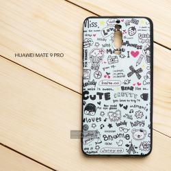 เคส Huawei Mate 9 Pro เคสนิ่ม TPU พิมพ์ลาย (ขอบดำ) แบบที่ 6