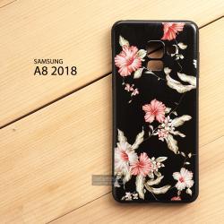 เคส Samsung Galaxy A8 2018 เคสนิ่ม TPU พิมพ์ลาย (ขอบดำ) แบบที่ 2