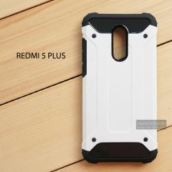 เคส Redmi 5 Plus เคสบั๊มเปอร์ (เสริมขอบกันกระแทก) สีขาว Hybrid Protection